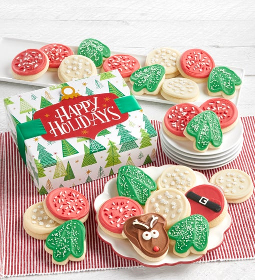 Cheryl's Happy Holidays Cut-Out Cookie Gift Box