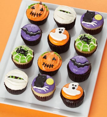 Boo To You Halloween Mini Artisan Cupcakes
