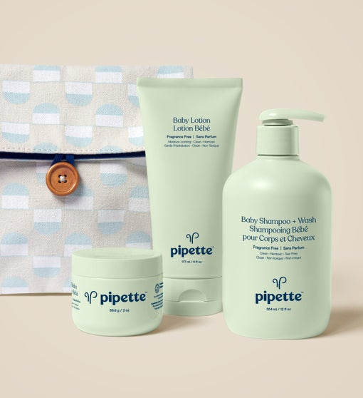 Pipette Baby Trio Keepsake Box & Travel Bag