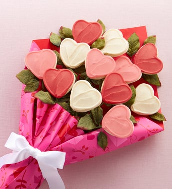 Cheryls Valentines Long Stemmed Cookie Flowers