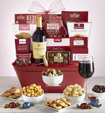 Exquisite Sweets & Wine Gift Basket
