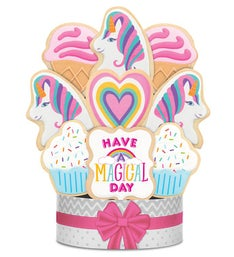 Have a Magical Day Unicorn Cookie Bouquet
