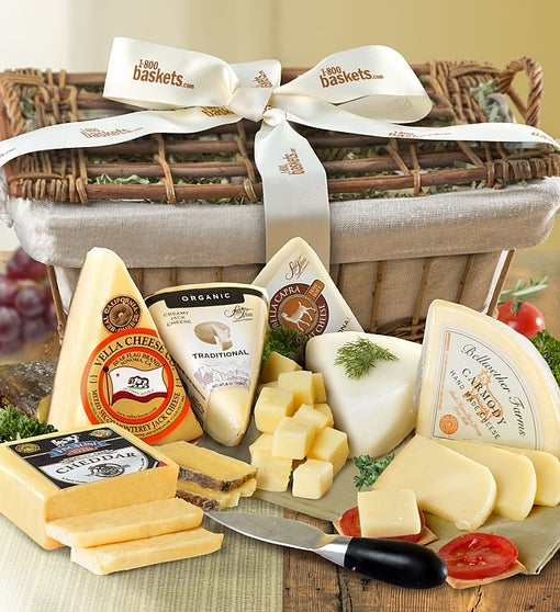 Premium American Handcrafted Cheese Gift Basket