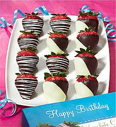 Happy Birthday Chocolate Strawberries