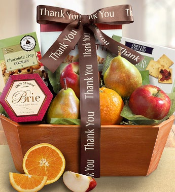 Thank You Fresh From the Orchard Fruit Gift Basket