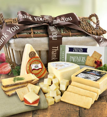Thank You Country Handmade Cheese Gift Basket