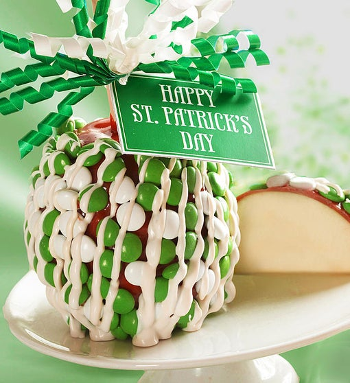 St. Patrick's Day Caramel Apple with Candies