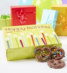 Happy Birthday Decorated Pretzels Box
