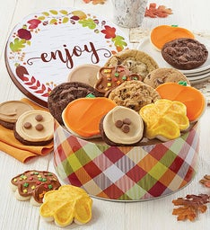Autumn Greetings Gift Tin Create your own cookie assortment
