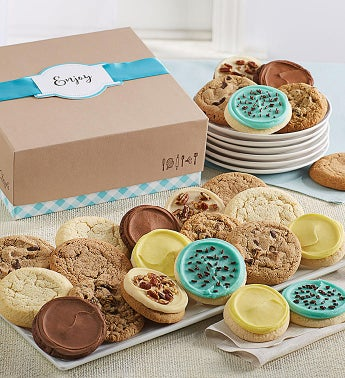 Cheryl39s Cookie Gift Boxes with Message Tag - 24 Cookies