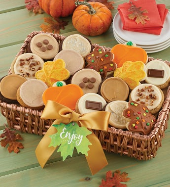 Fall Buttercream Cookie Gift Basket - Medium