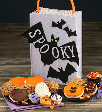 Spooky Bat Trick or Treat Tote