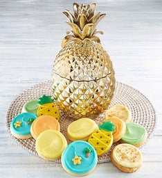 Collector's Edition Gold Pineapple Cookie Jar
