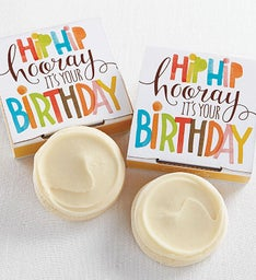 Sugar Free Hip Hip Hooray Birthday Cookie Card