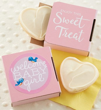 Welcome Baby Girl Cookie Card