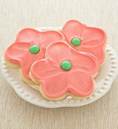 Buttercream Frosted Pink Flower Cut-out