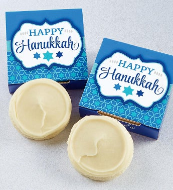 Happy Hanukkah Cookie Card