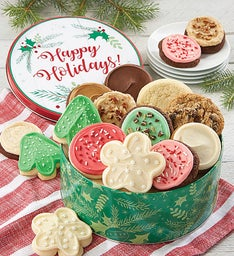 Happy Holidays Tin Create Your Own Cookie Assortment