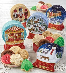 Snow Globe Shaped Gift Tin Set