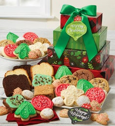 Happy Holidays Bakery Gift Tower