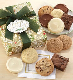 Sugar Free Happy Holidays Sparkling Cookie and Brownie Gift Box