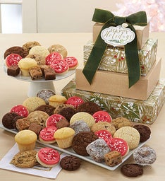 Exclusive Happy Holidays Bakery Gift Tower