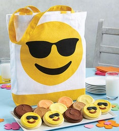 Emoji Eyeglasses Canvas Tote