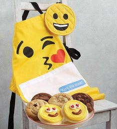 Emoji Apron and Mitt Set