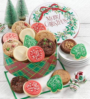 Merry Christmas Gift Tin - Holiday Assortment