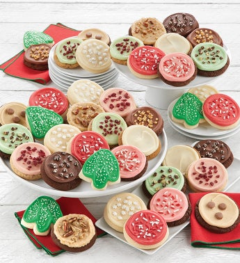 Bow Gift Box - 100 Buttercream Frosted Holiday Cookies