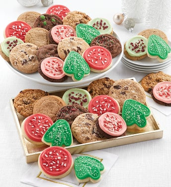Bow Gift Box  72 Classic Holiday Cookies