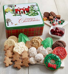 Home For The Holidays Treats Gift Tin - Merry Christmas