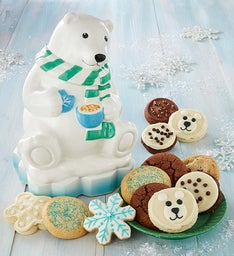 Collector's Edition Winter Wishes Polar Bear Cookie Jar