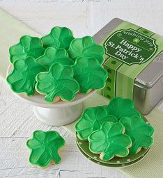 St Patrick's Day Gift Tin- Shamrock Cut-outs