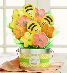 Sunny Day Cookie Flower Pot