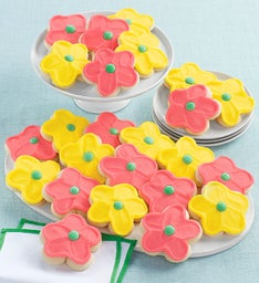 Buttercream Frosted Flower Cut-out Cookies