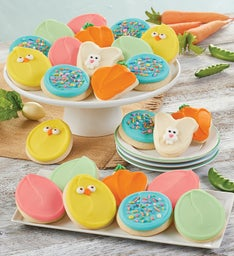 Buttercream Frosted Easter Cut Out Cookies -100