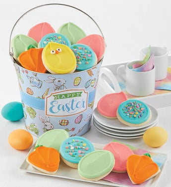 Buttercream Frosted Easter Cookie Pail