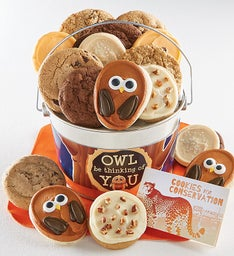 Owl Be Thinking of you Cookie Pail