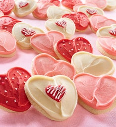 Buttercream Frosted Classic Valentine's Day Cut-Out Cookies