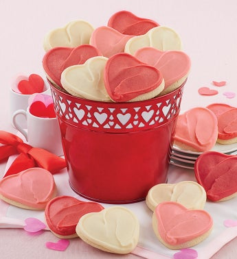 Buttercream Frosted Valentine Cookie Pail