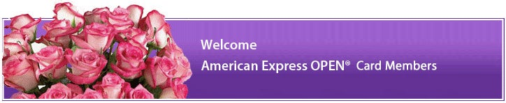 Welcome American Express OPEN®  Card Members