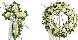 Sympathy Standing Wreaths