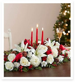 Bring the Outdoor Beauty of Winter Indoors with the Christmas Celebration Centerpiece