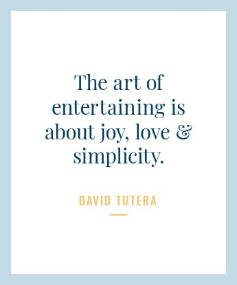 The art of entertaining is about joy
