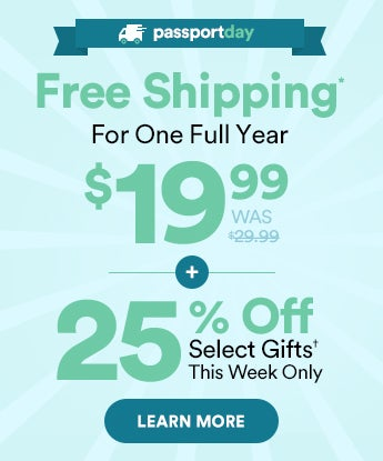 Free Shipping For One Full Year