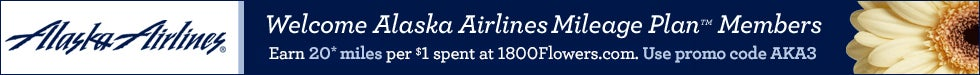 Welcome Alaska Airlines Mileage Plan Members!
