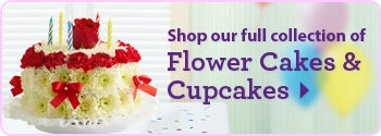 Shop our Flower Cakes & Cupcakes Collection