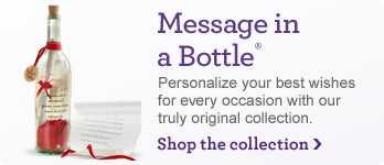 Message in a Bottle - Personalize your Best Wishes