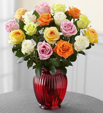 Assorted Valentine Roses, 18 Stems